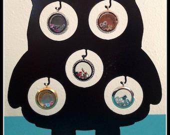 Owl Locket Display- Black