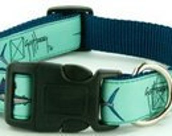 GUY HARVEY SEAFOAM grand slam dog collar