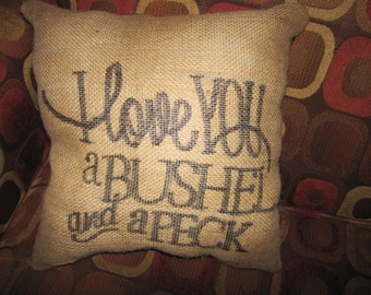 I Love you  Bushel & Peck Pillow