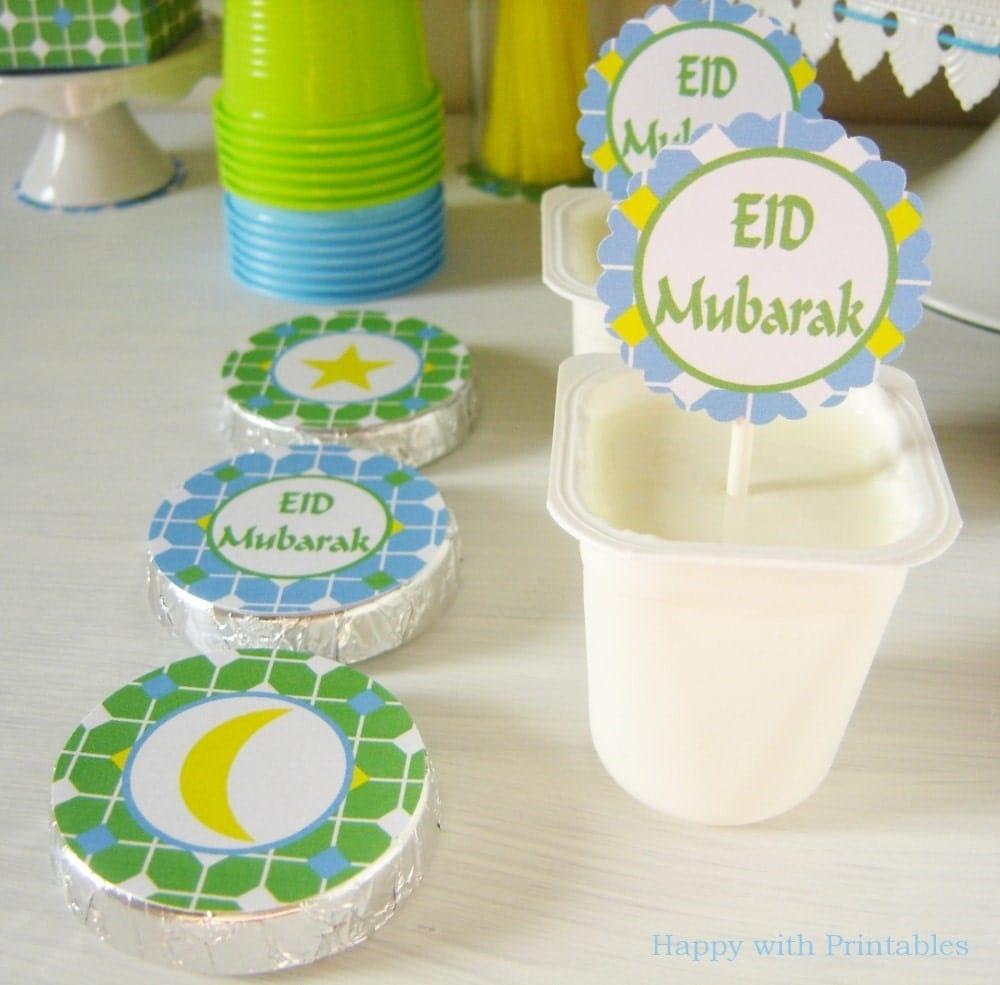 Eid Mubarak Stickers: Printable Eid Mubarak Party Stickers