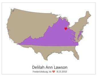 Customized Birthplace Maps