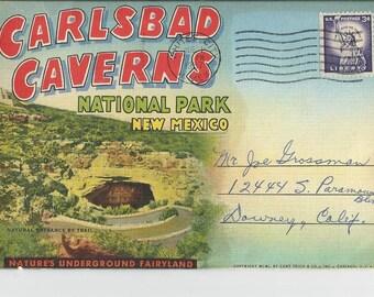 Vintage Carlsbad Caverns National Park Photo Folder