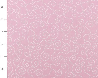Dotty Swirl Pink by Timeless Treasures