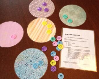 Preschool Busy Bag: Sorting Circles