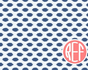 Navy and Coral Ikat Monogrammed Placemat! Laminated and custom made. Make meal time fun and simple! Custom colors available! Gift
