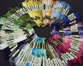 200 skeins DMC embroidery cross stitch floss - anneky