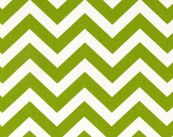Crib Rail Teething Guard - Green & White Chevron