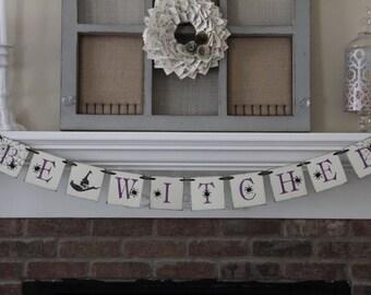 Halloween Banner • Witch banner • Halloween Decor • halloween party • halloween garland • witch • halloween