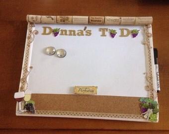 Custom To Do Magnetic Dry Erase Board