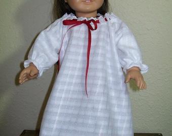 Fleece Nightgown for Josefina American Girl or 18 Inch Dolls