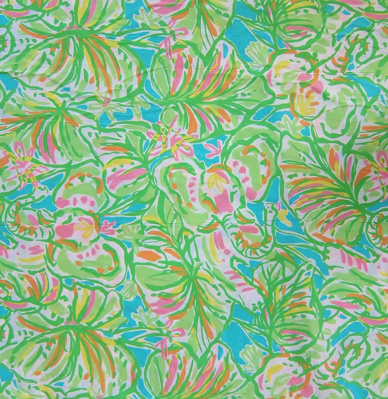 Lilly pulitzer fabric 2014 multi elephant ears 1 for Elephant fabric
