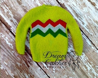 ITH Small Sweater Elf Doll Embroidery Design