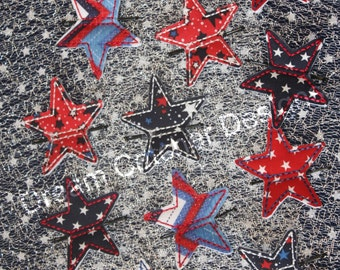 ITH Bobby Pin Star Feltie Embroidery Design