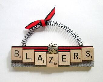 Portland Trail Blazers Basketball Scrabble Tile Ornament