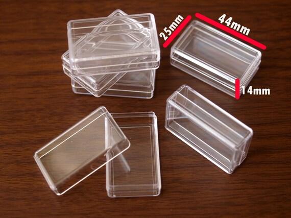 satz von 12 durchsichtige plastik boxen mit deckel gr e 44. Black Bedroom Furniture Sets. Home Design Ideas
