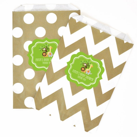 baby shower favor bags safari animals candy bags zoo animal goody