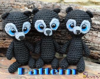 PDF Pattern - Amigurumi Brave bears triplet
