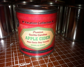 Apple Cider Candle Fall 1/2 pint paint can soy wax