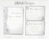 "DIY Printable Word Template - 2014 ""Flowers"" Invitation Suite"