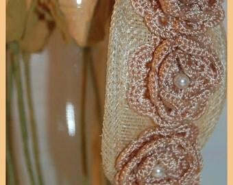 Silk roses headband