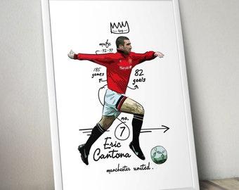 Eric Cantona Manchester United Print