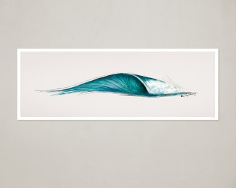 "Surf Art Print: ""6ft. Peak"" Wave"