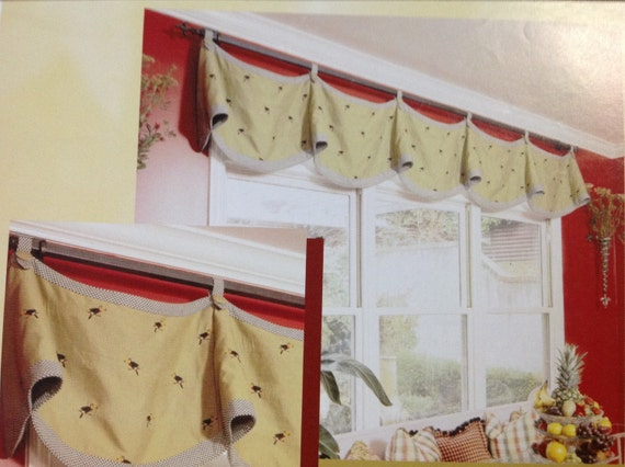Claudine valance professional window treatment by for Professional window treatment patterns