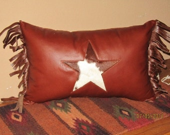Leather, Western Style Throw Pillows