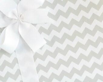 Chevron Gift Wrap / Wrapping Paper - Gray Fizz