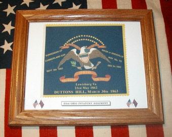 34 Star Flag, Union Civil War Flag, Regimental Flag...44th Ohio Flag