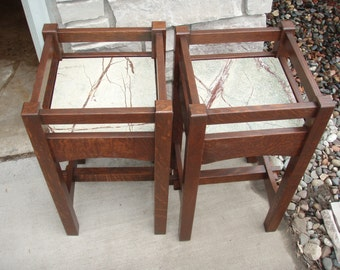 Hand crafted reproduction of a Stickley Arts and Crafts Plant Stand