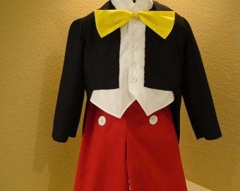 Mickey Mouse Inspired Traditional Boy's Costume-3 piece set