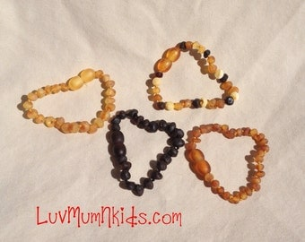 Certified Adult RAW Baltic Amber bracelet!