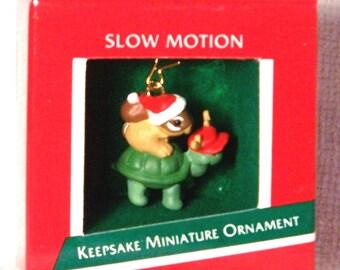 Hallmark Keepsake Miniature Christmas Ornament – 1989 MIB, Slow Motion – QXM5752