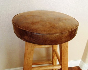 Bar Stool Cushion Cover Light Brown Faux Leather 12 Quot 13