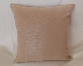 beige faux leather decorative throw pillow cover sofa