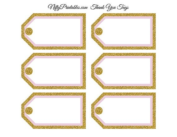 Printable blank favor tags pink gold glitter diy blank printable blank favor tags pink gold glitter diy blank gift labels bridal shower favor tags pink baby shower blank tags pgl negle Image collections