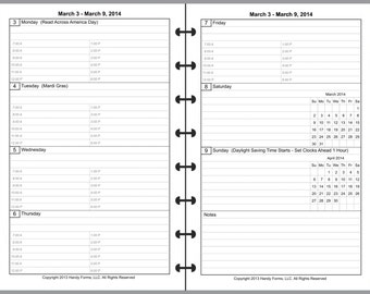 Daily Planner Refill One Page Per Day High Quality Paper