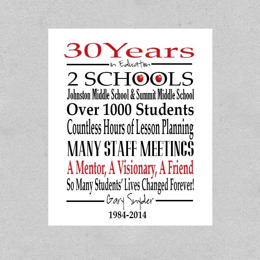 Teacher Retirement Gift Retired Teacher Gift by ...