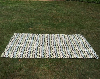 Waterproof Picnic Blanket / Beach Blanket with Carrying Tote Bag/ Ready to ship
