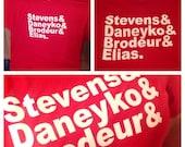 """New Jersey Devils """"&"""" Tee feat. Stevens Daneyko Brodeur and Elias"""