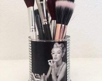 Marilyn Monroe inspired makeup brush holder