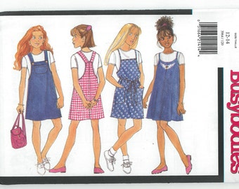 Sewing Pattern - Girls Out of Print Pattern Denim JumperThree Views- Butterick # 3964 TK