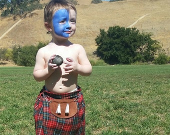 Baby Kilt, Highland Games Outfit, Halloween Costume, Scottish Clothing for baby, Holiday or Christmas outfit, Kilt with Sporran
