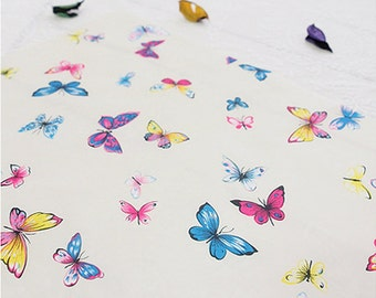 Waterproof Fabric Butterfly in 3 Colors By The Yard