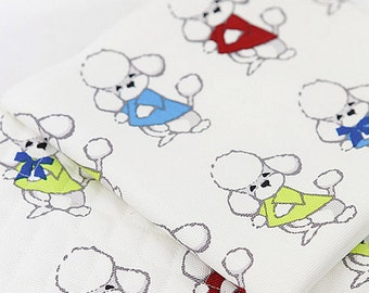 Canvas Cotton Fabric Poodle By The Yard