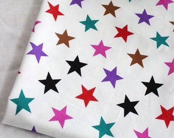 Cotton Fabric Colorful Star By The Yard