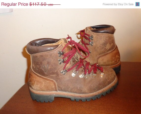 vintage vasque hiking brown boots mens size usa by simplemiles. Black Bedroom Furniture Sets. Home Design Ideas