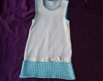 cotton wool knitted baby dress
