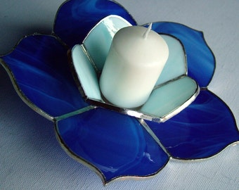 Tiffany flower Candle holder from Deep Blue Model furniture handmade